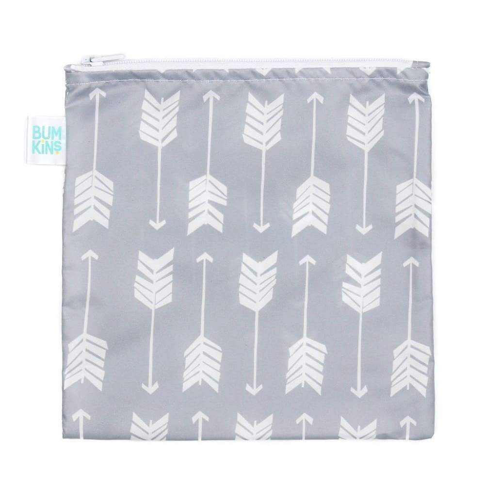 Bumkins Large Snack Bag Grey Arrow,Reusable Snack Bag, Bumkins - Yum Yum Store