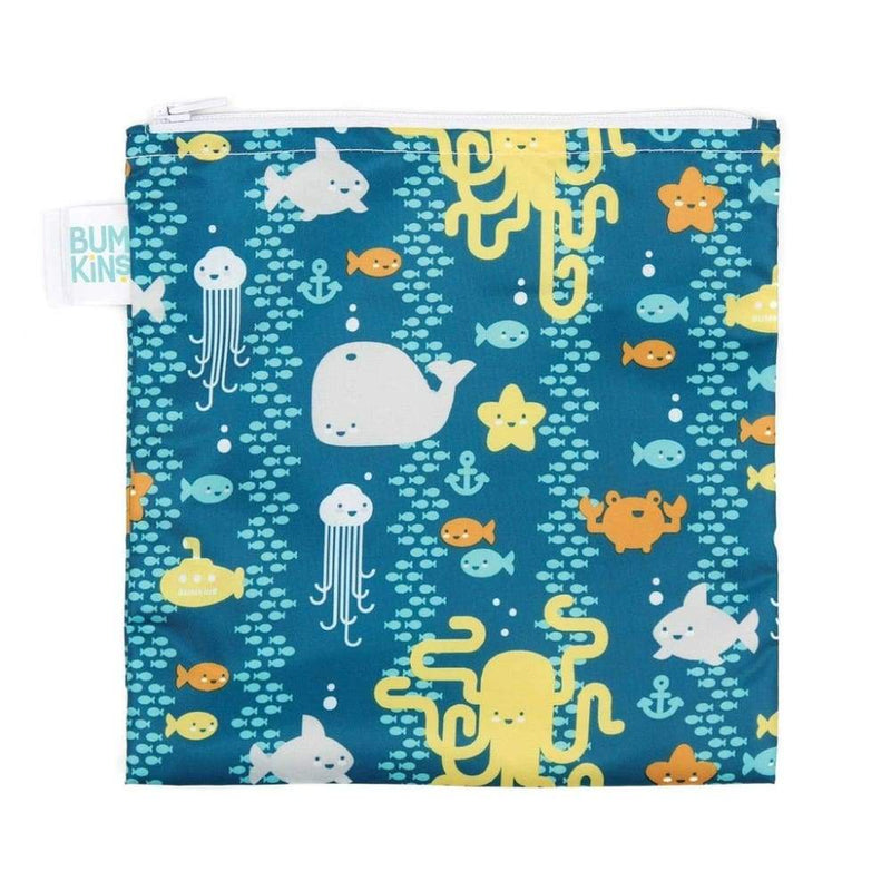 Bumkins Large Snack Bag Sea Friends,Reusable Snack Bag, Bumkins - Yum Yum Store