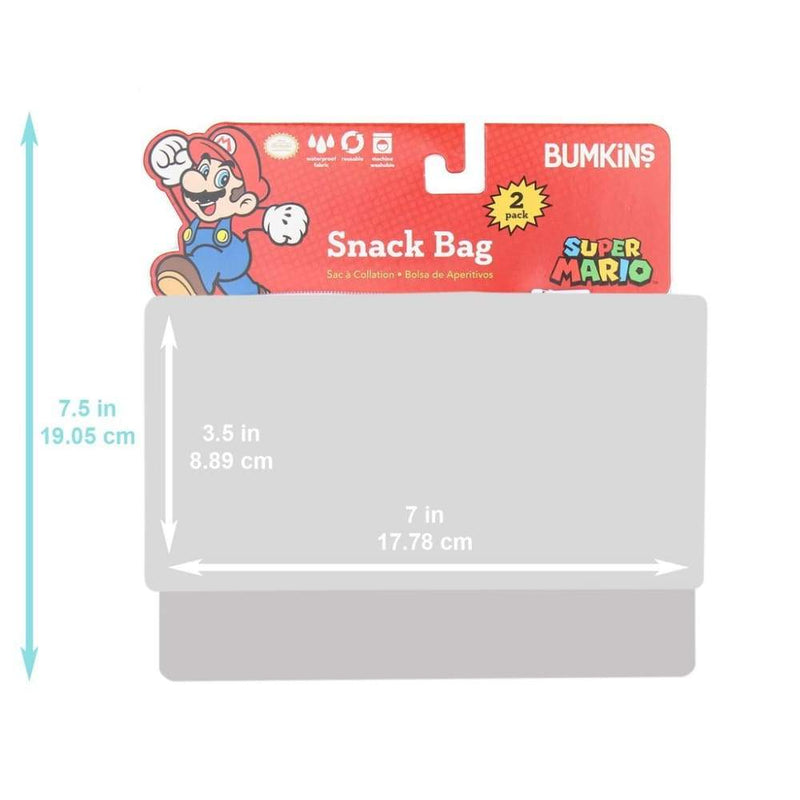 Bumkins Small Snack Bag 2 Pack Nintendo Console,Reusable Snack Bags, Bumkins - Yum Yum Store