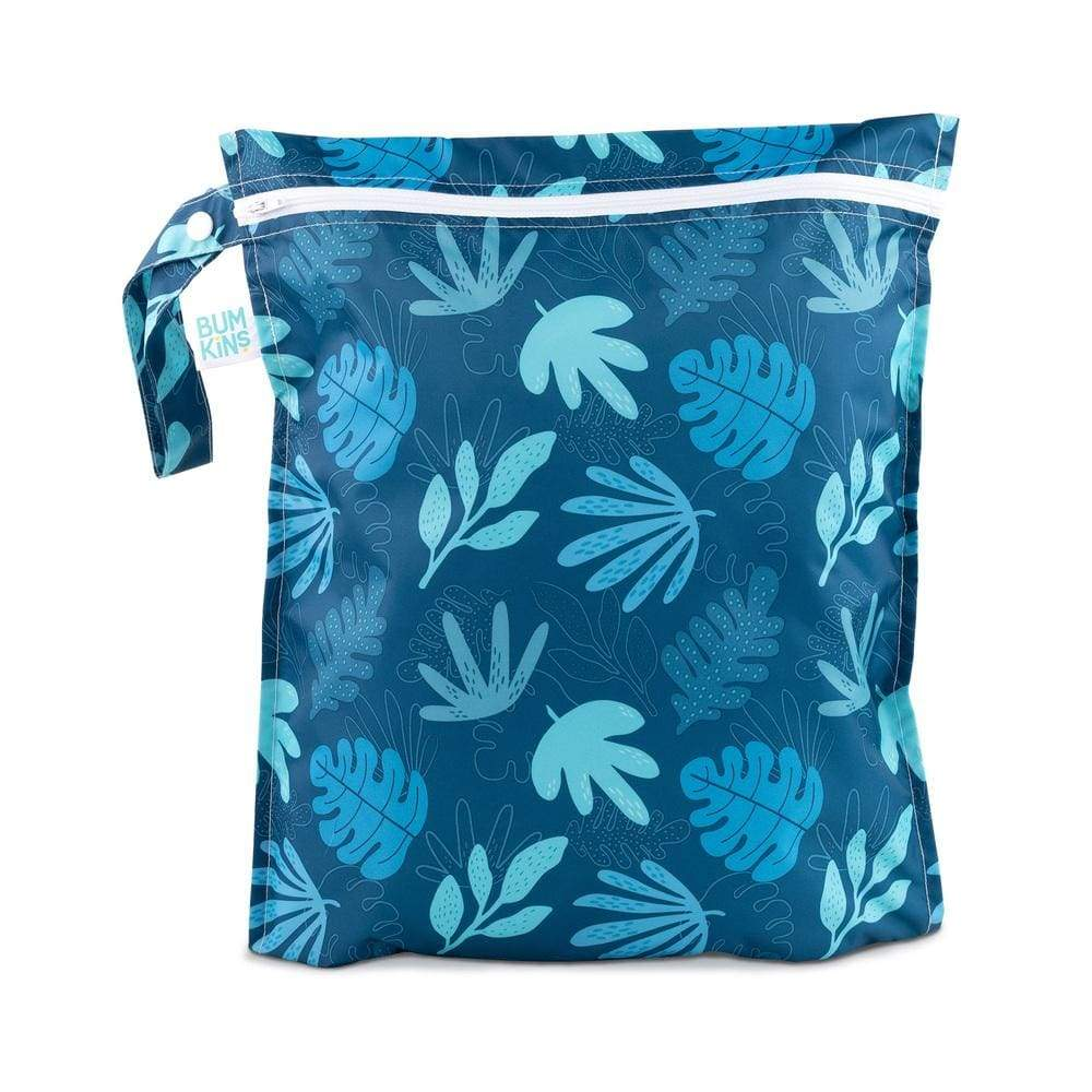Bumkins Wet Bag Blue Tropic,Wet Bag, Bumkins - Yum Yum Store