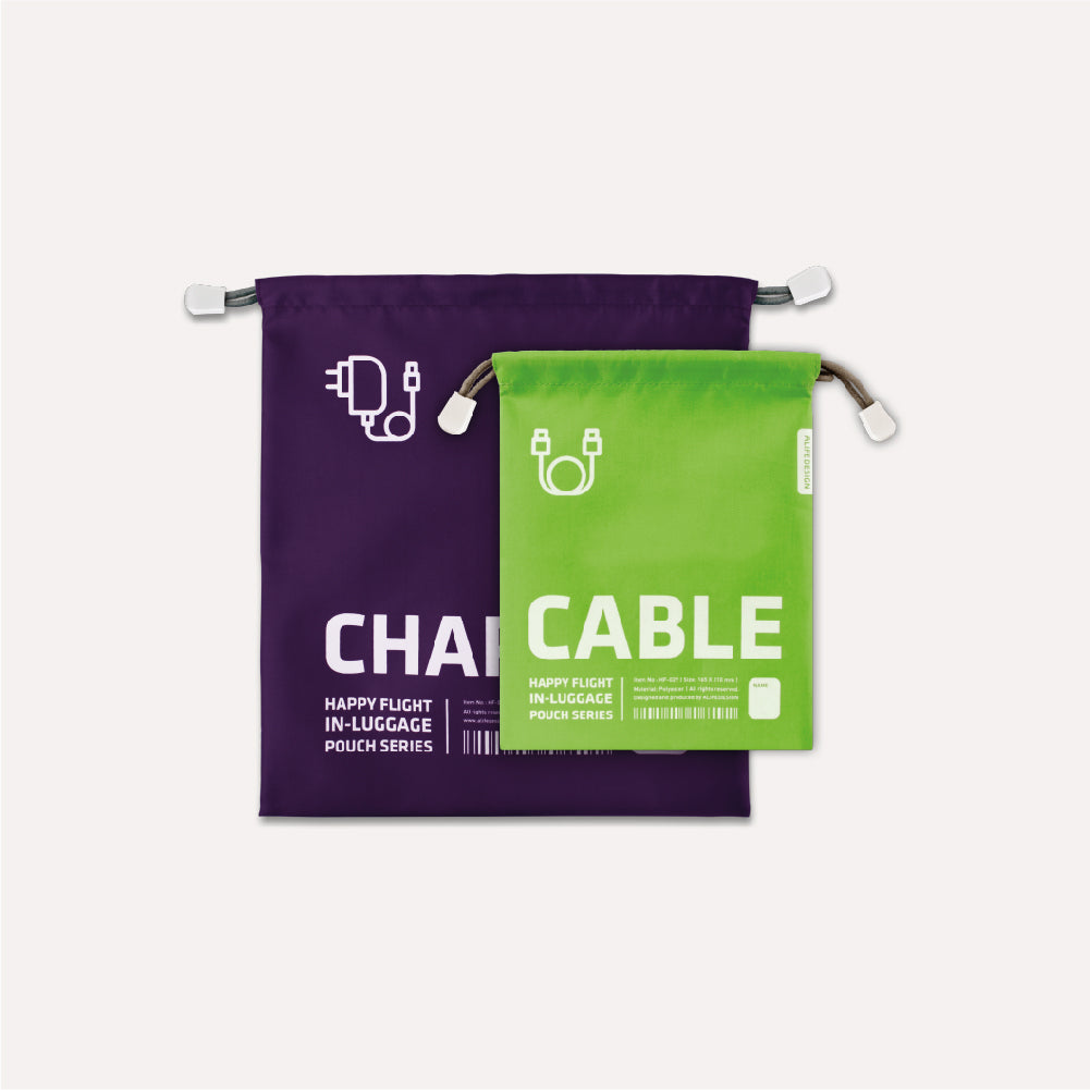 Alife Design Travel Pouch Charger & Cable Green & Purple,Travel Pouch, Alife Design - Yum Yum Store