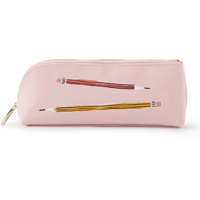 check out 725d9 241f1 Kate Spade New York Pink Pencil Case Sketch Set