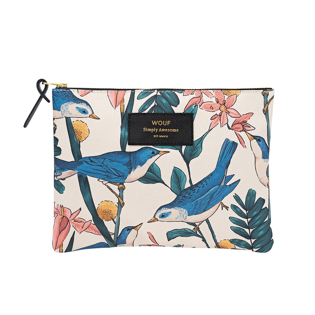 Wouf Large Pouch Birdies,Pouch Bag, Wouf - Yum Yum Store