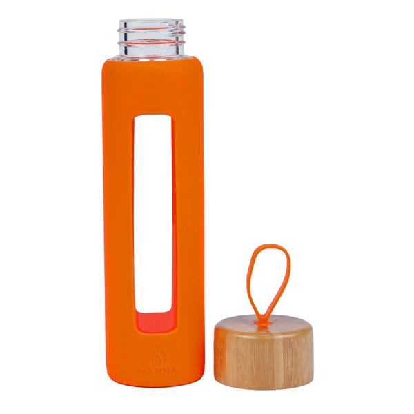 Manna 18oz Wai Bamboo Loop Window Grip Orange,Water Bottle, Manna - Yum Yum Store