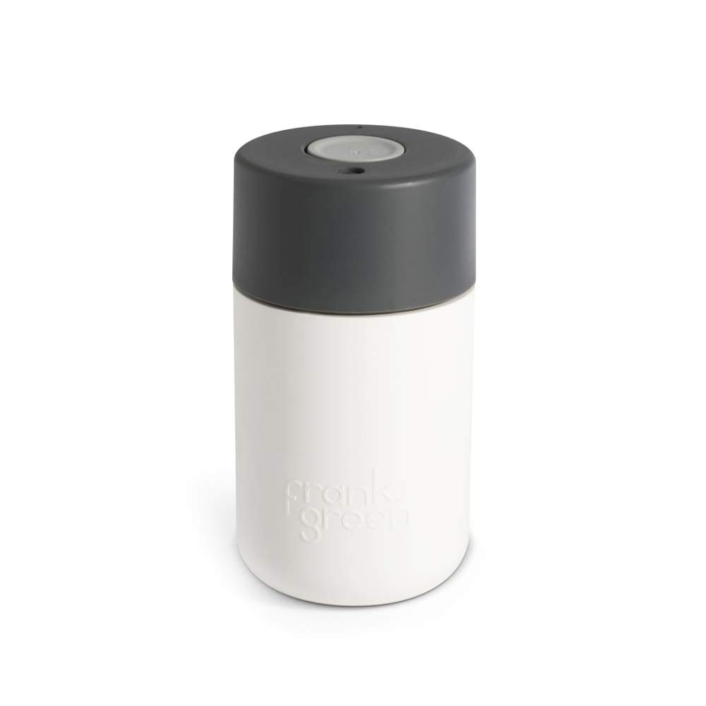 Frank Green Original Cup 12oz - White Grey,Reusable Coffee Cup, Frank Green - Yum Yum Store