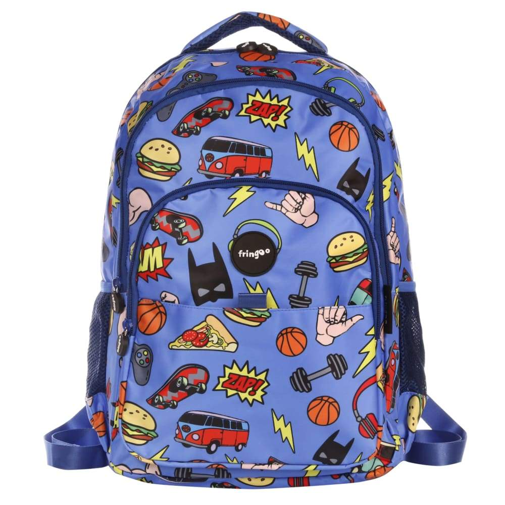Fringoo Multi Compartment Backpack Doodle Boy,Backpack, Fringoo - Yum Yum Store