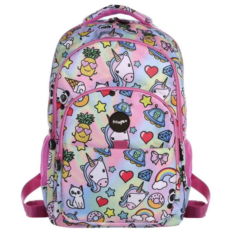 Fringoo Multi Compartment Backpack Holo Doodles,Backpack, Fringoo - Yum Yum Store