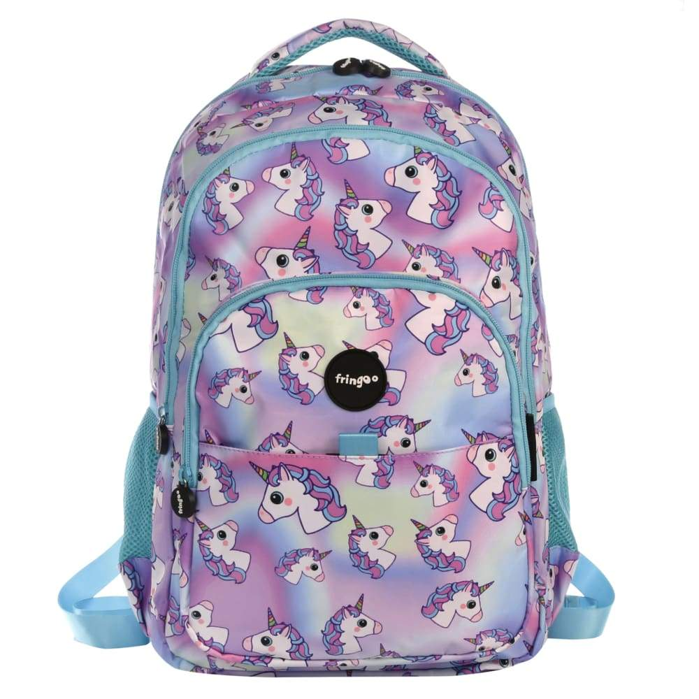 Fringoo Multi Compartment Backpack Hologram Unicorns,Backpack, Fringoo - Yum Yum Store