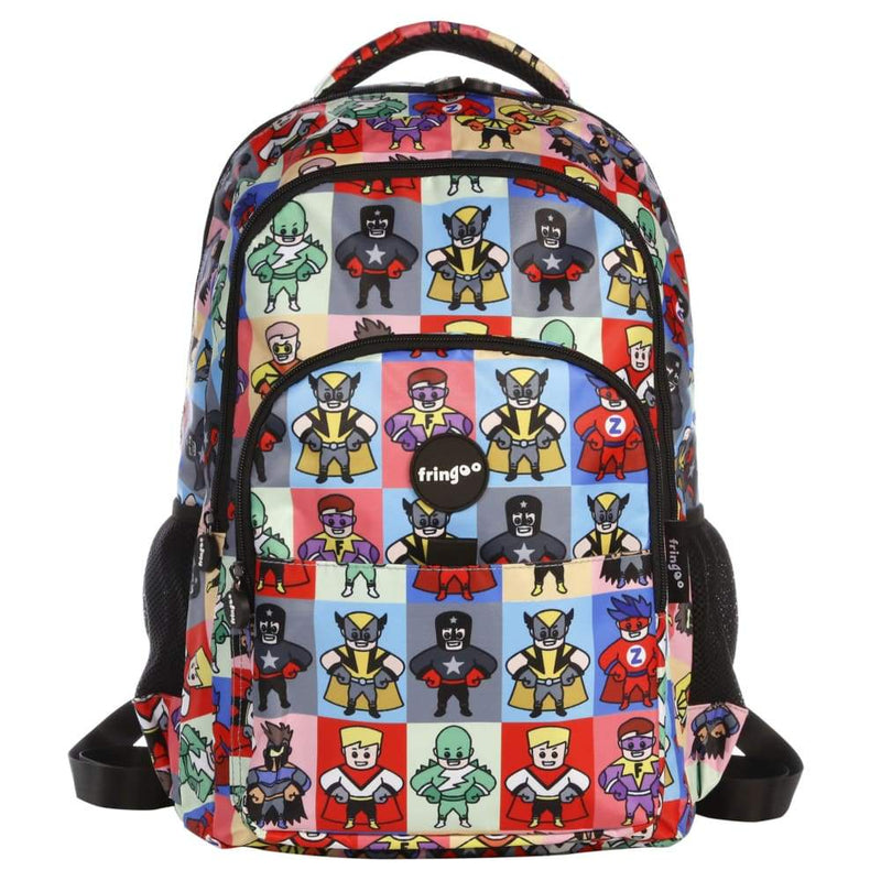 Fringoo Multi Compartment Backpack Superheroes,Backpack, Fringoo - Yum Yum Store