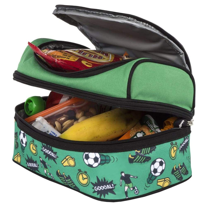 Fringoo Multi Compartment Lunch Box Football,Insulated Lunchbox, Fringoo - Yum Yum Store