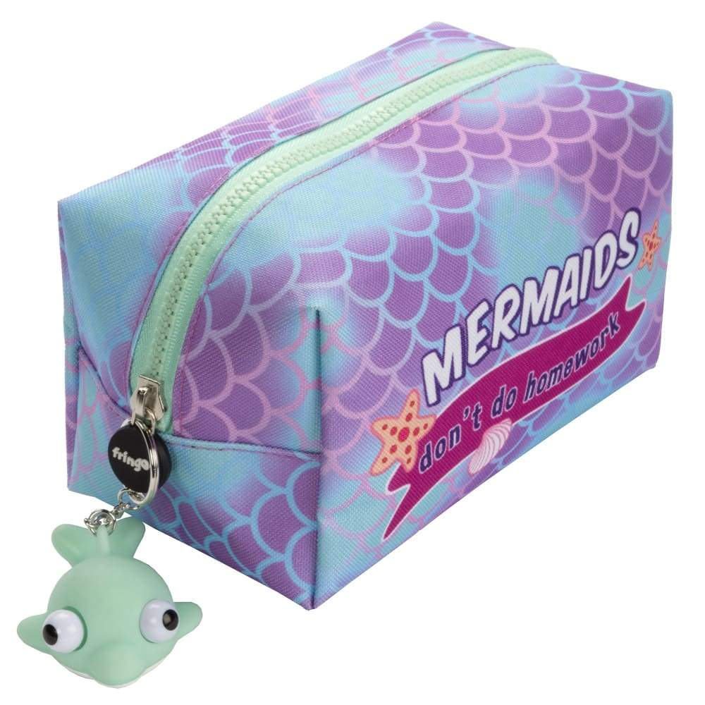 Fringoo Square Pencil Case + Keyring Mermaid,Pencil Case, Fringoo - Yum Yum Store
