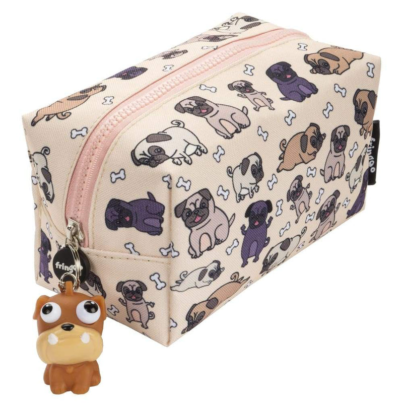 Fringoo Square Pencil Case + Keyring Pugs World,Pencil Case, Fringoo - Yum Yum Store