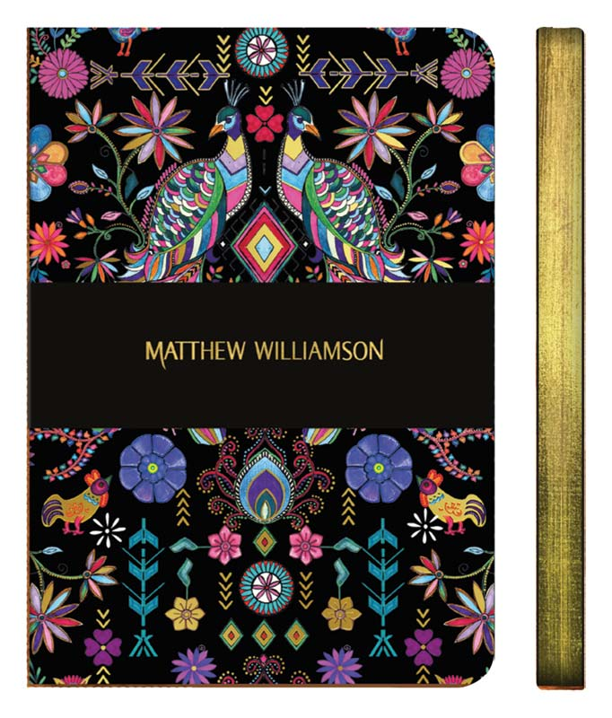 Museums & Galleries Mathew Williamson Pampas Peacock A5 Luxury Notebook,Notebook, Mathew Williamson - Yum Yum Store
