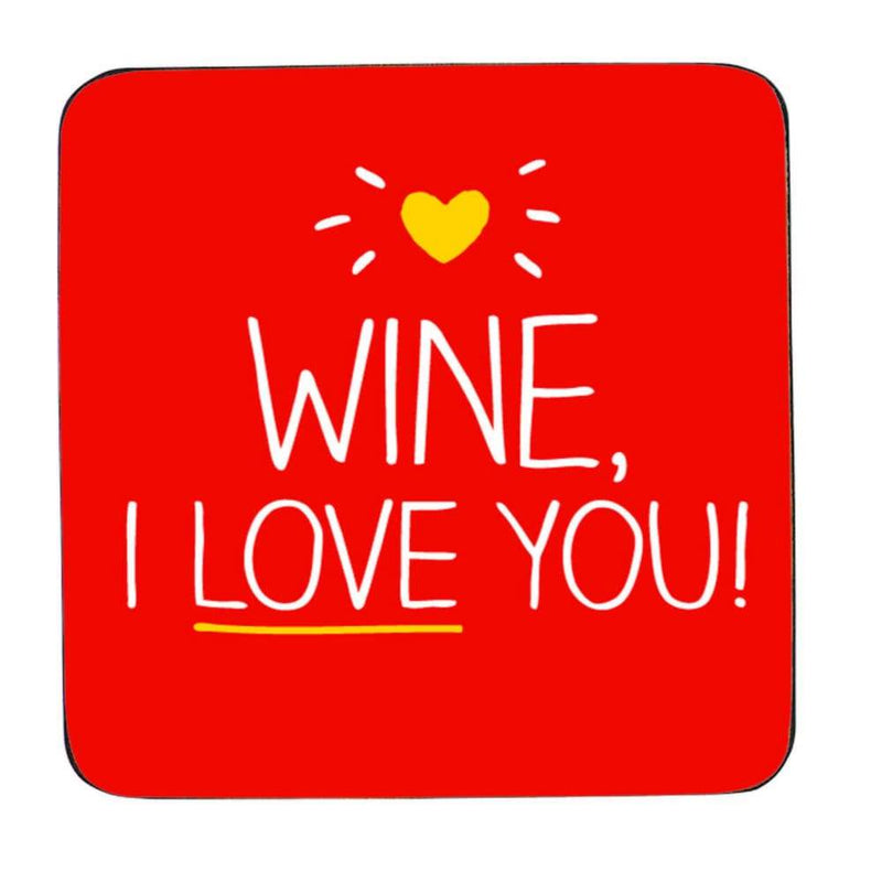 Happy Jackson Wine I Love You! Coaster,Coaster, Happy Jackson - Yum Yum Store