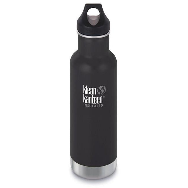Klean Kanteen Insulated Classic 20oz (592ml) with Leakproof Loop Cap Shale Black,Water Bottle, Klean Kanteen - Yum Yum Store