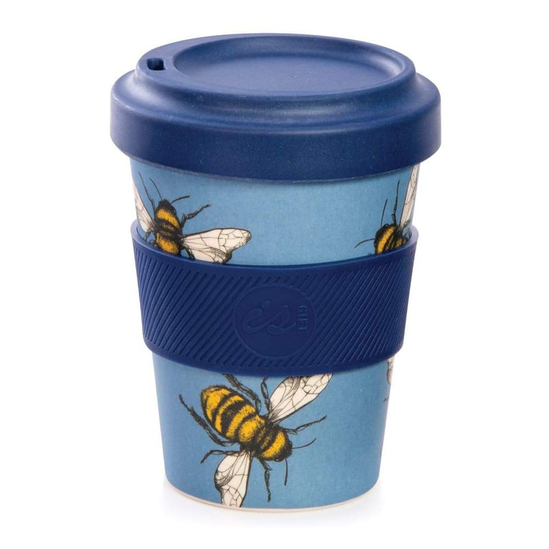 IS GIFT eCup - Bamboo Bees Print Blue,Reusable Coffee Cup, IS Gift - Yum Yum Store