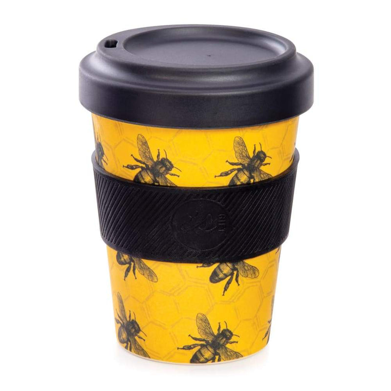 IS GIFT eCup - Bamboo Bees Print Yellow,Reusable Coffee Cup, IS Gift - Yum Yum Store