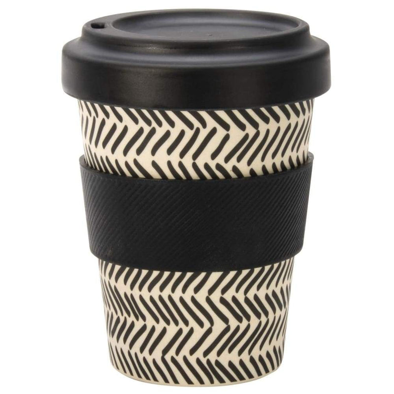 IS GIFT eCup - Bamboo Monochrome Print Lines,Reusable Coffee Cup, IS Gift - Yum Yum Store