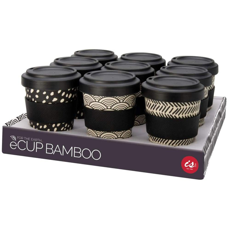 IS GIFT eCup - Bamboo Monochrome Print Rainbow,Reusable Coffee Cup, IS Gift - Yum Yum Store