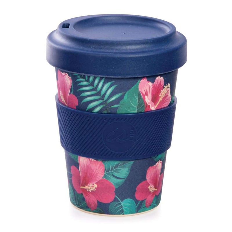 IS GIFT eCup - Bamboo Tropical Print Blue,Reusable Coffee Cup, IS Gift - Yum Yum Store