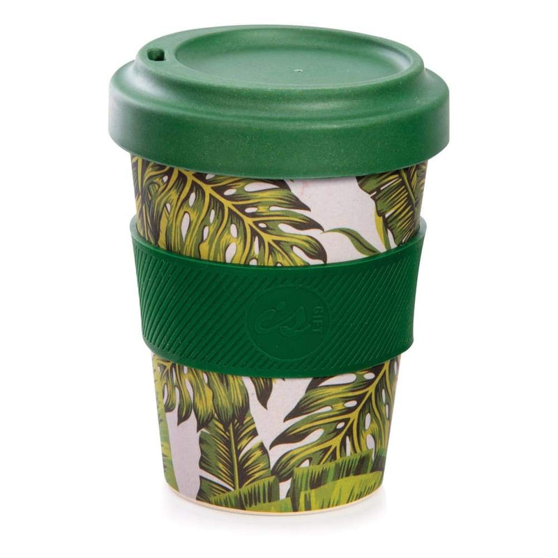 IS GIFT eCup - Bamboo Tropical Print Leaves,Reusable Coffee Cup, IS Gift - Yum Yum Store