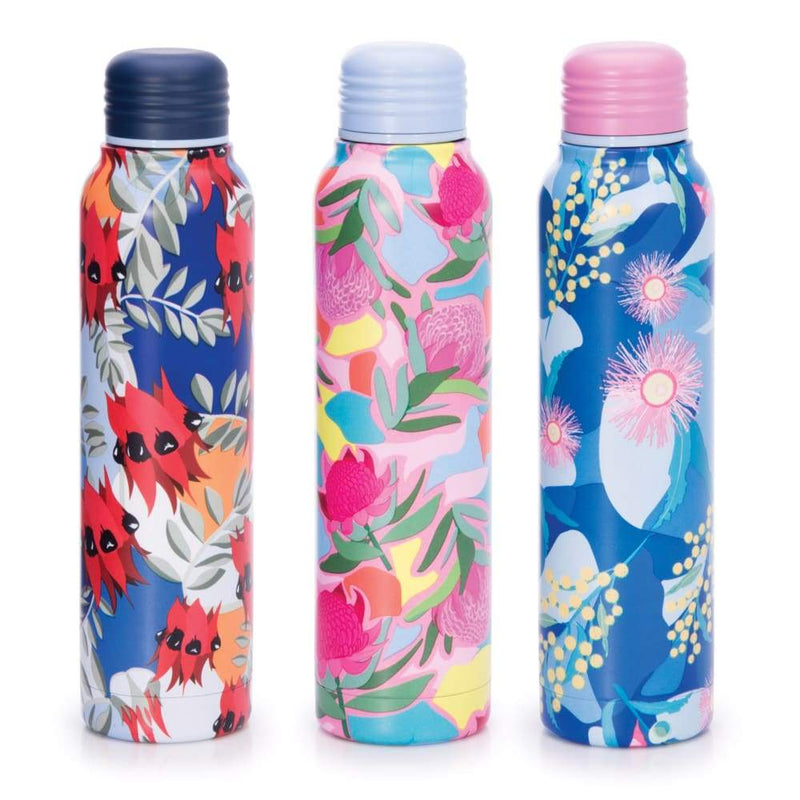 IS GIFT Insulated Water Bottle - Botanical Navy Top,Stainless Steel Water Bottle, IS Gift - Yum Yum Store