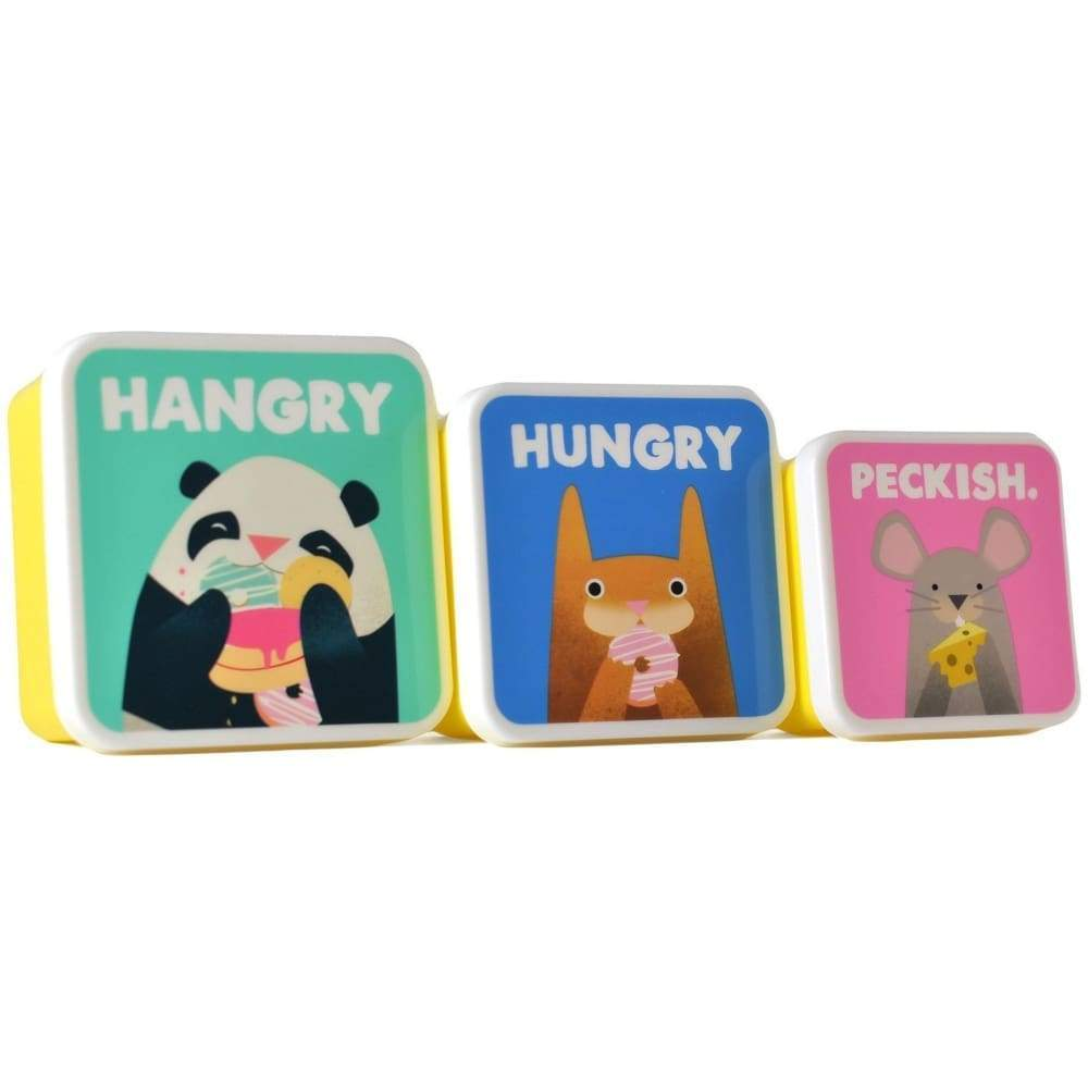 Jolly Awesome Lunch and Storage Boxes (Set of 3) - Hungry,Storage, Jolly Awesome - Yum Yum Store