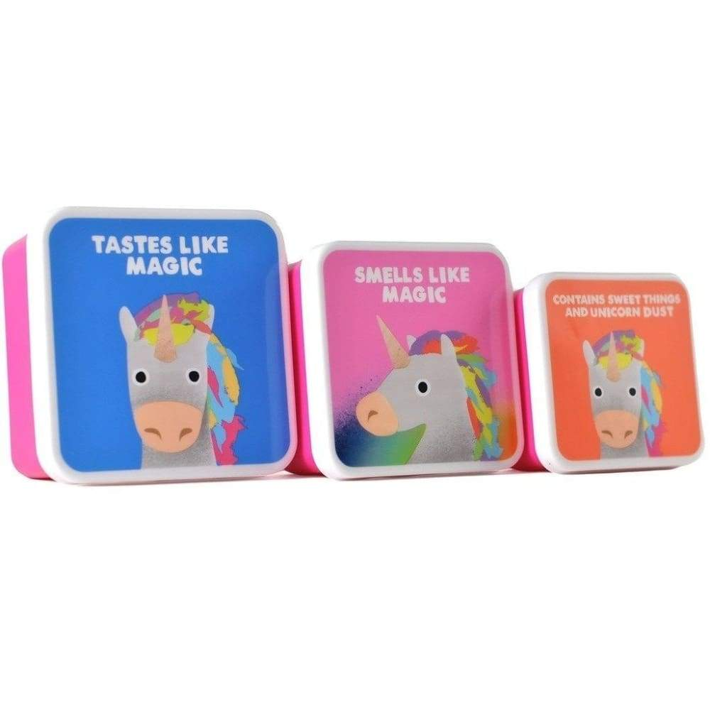 Jolly Awesome Lunch and Storage Boxes (Set of 3) - Unicorn,lunchbox, Jolly Awesome - Yum Yum Store