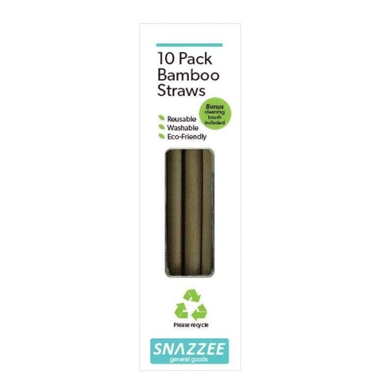 Kates Bamboo Straws 10 Pack with Cleaning Brush,Bamboo Straws, Kates Kitchen - Yum Yum Store
