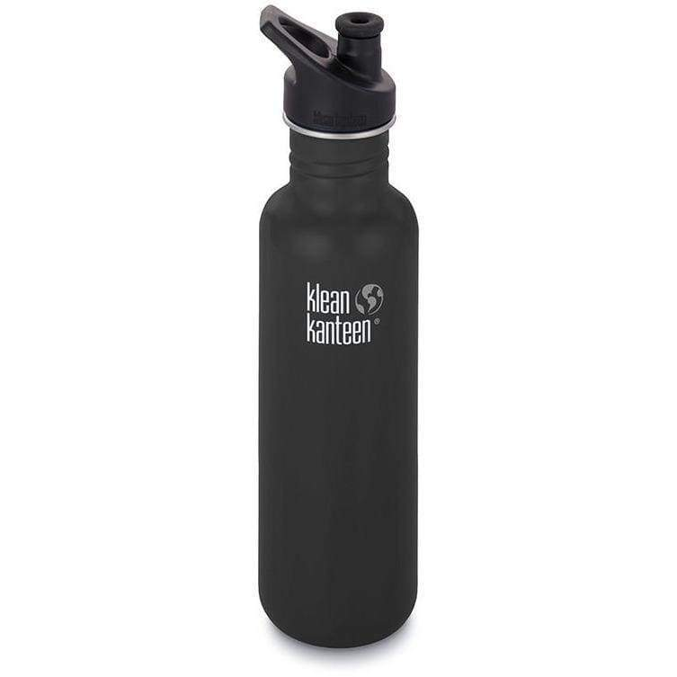 Klean Kanteen 27oz (800ml) Classic with Sports Cap 3.0 Black,Water Bottle, Klean Kanteen - Yum Yum Store