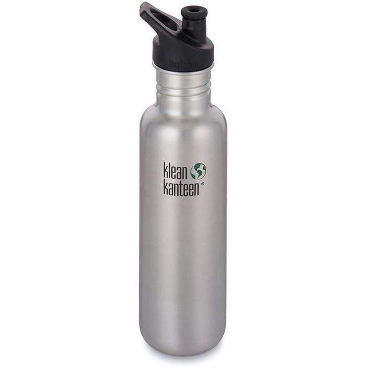 Klean Kanteen 27oz (800ml) Classic with Sports Cap 3.0 Brushed Stainless,Water Bottle, Klean Kanteen - Yum Yum Store