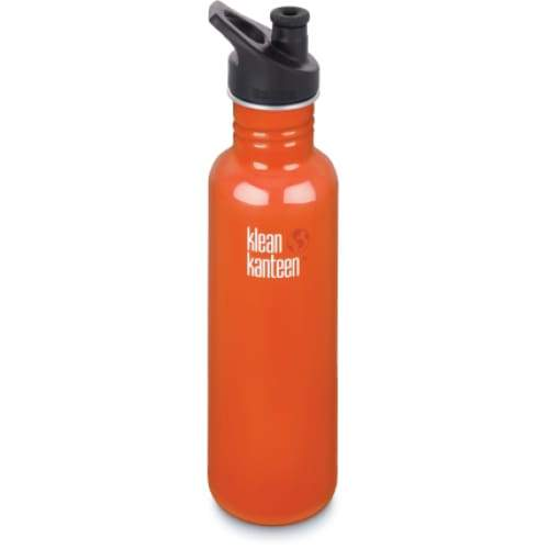 Klean Kanteen 27oz (800ml) Classic with Sports Cap 3.0 Flame Orange,Water Bottle, Klean Kanteen - Yum Yum Store