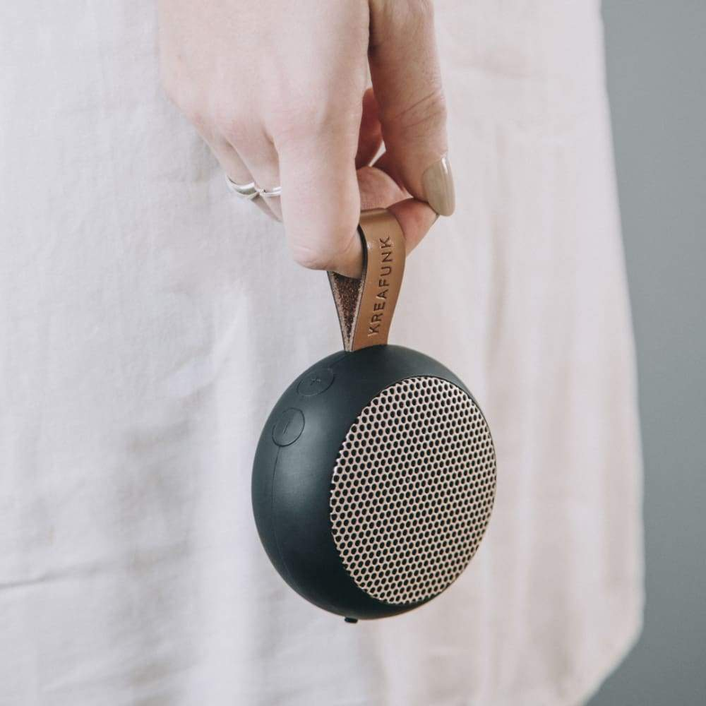 Kreafunk: Ago Black Portable Wireless Speaker,speaker, Kreafunk - Yum Yum Store