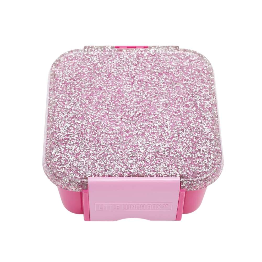 Little Lunch Box Co - Bento Two - Pink Glitter,snack box, Little Lunchbox Co. - Yum Yum Store