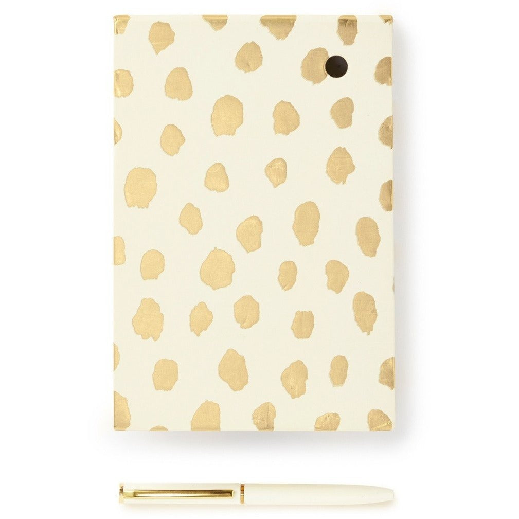 Kate Spade New York Loose Note Holder With Pen - Gold Flamingo Dot,Notebook, Kate Spade New York - Yum Yum Store