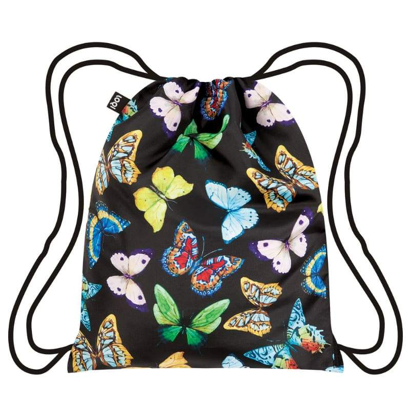 Loqi Backpack Wild Collection - Butterflies,Drawstring Bag, Loqi - Yum Yum Store
