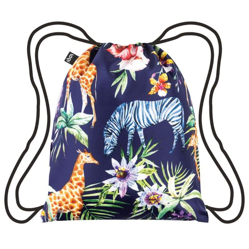 Loqi Backpack Wild Collection Zebras,Drawstring Bag, Loqi - Yum Yum Store