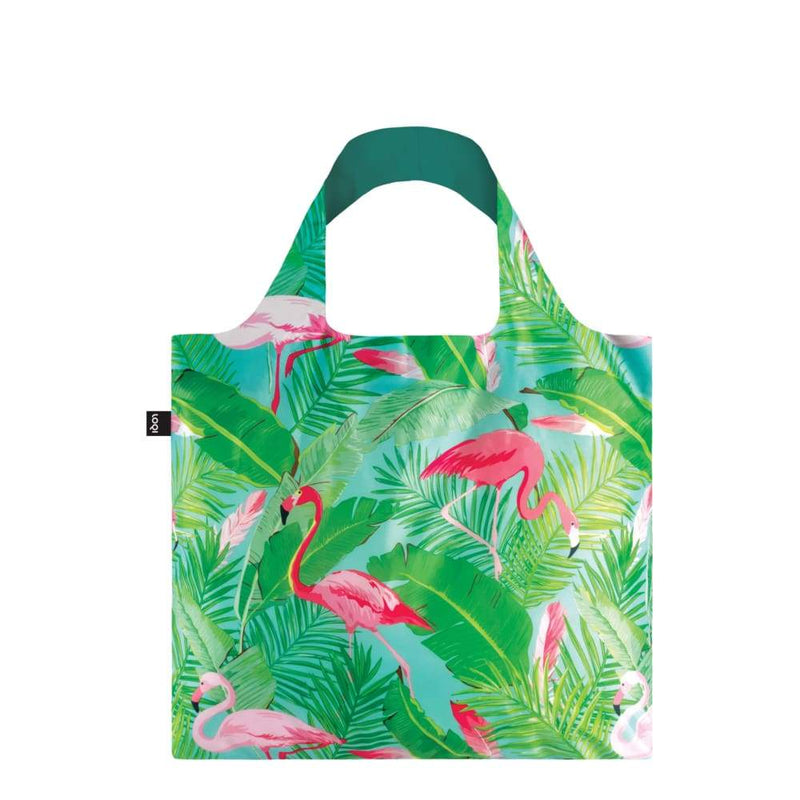 Loqi Reusable Shopping Bag - Flamingos