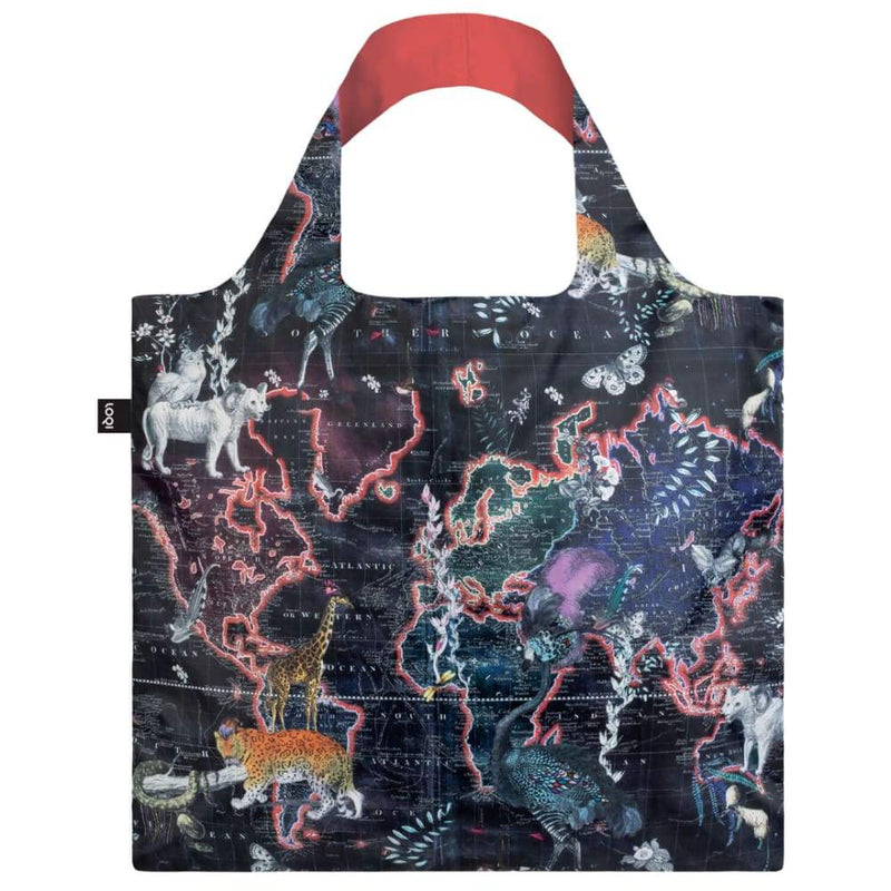 Loqi Reusable Shopping Bag World Map,Reusable Shopping Bag, Loqi - Yum Yum Store