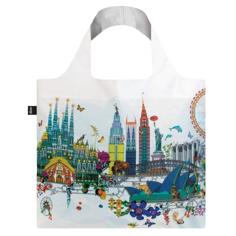 Loqi Reusable Shopping Bag World Skyline,Reusable Shopping Bag, Loqi - Yum Yum Store