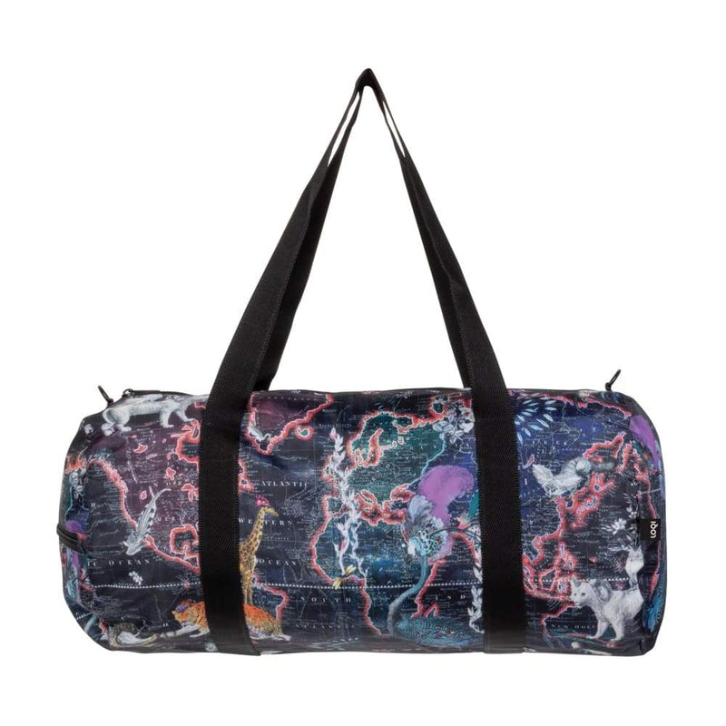 Loqi Weekender World Map / Great Barrier Reef,Duffle Bag, Loqi - Yum Yum Store