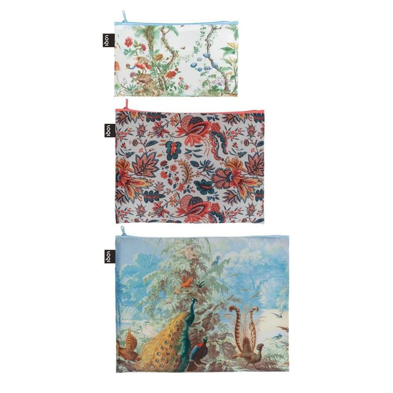 Loqi Zip Pocket (Set Of 3) Museum Collection - Brazil,Reusable Pouch, Loqi - Yum Yum Store