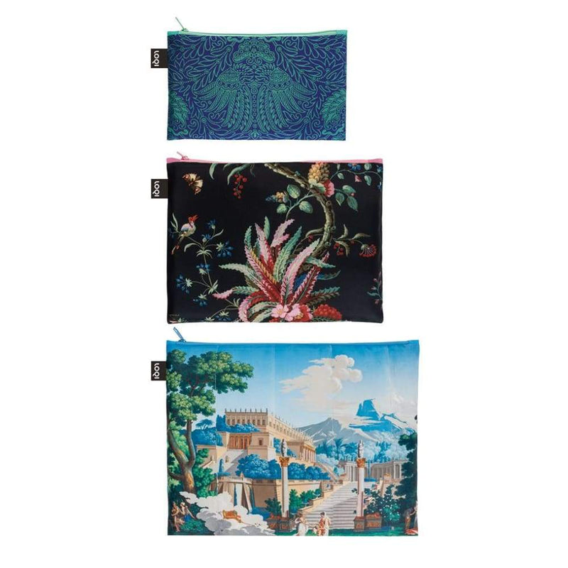 Loqi Zip Pocket (Set Of 3) Museum Collection - Calypso Island,Reusable Pouch, Loqi - Yum Yum Store
