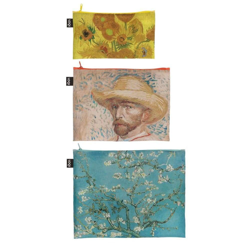 Loqi Zip Pocket (Set Of 3) Museum Collection - Van Gogh,Reusable Pouch, Loqi - Yum Yum Store