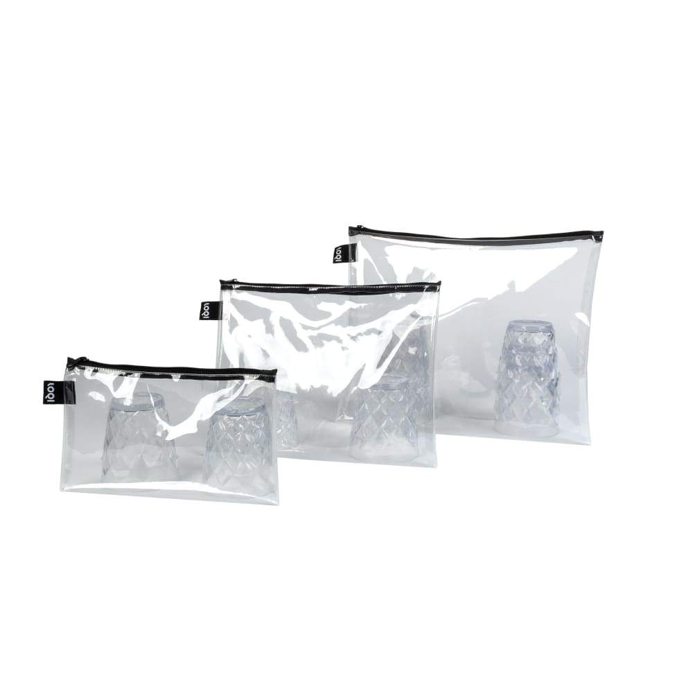 Loqi Zip Pockets (Set of 3) Transparent,Pouches, Loqi - Yum Yum Store