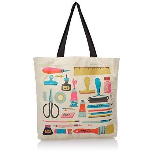 Molly & Rex Canvas Tote Bag - Art Supplies