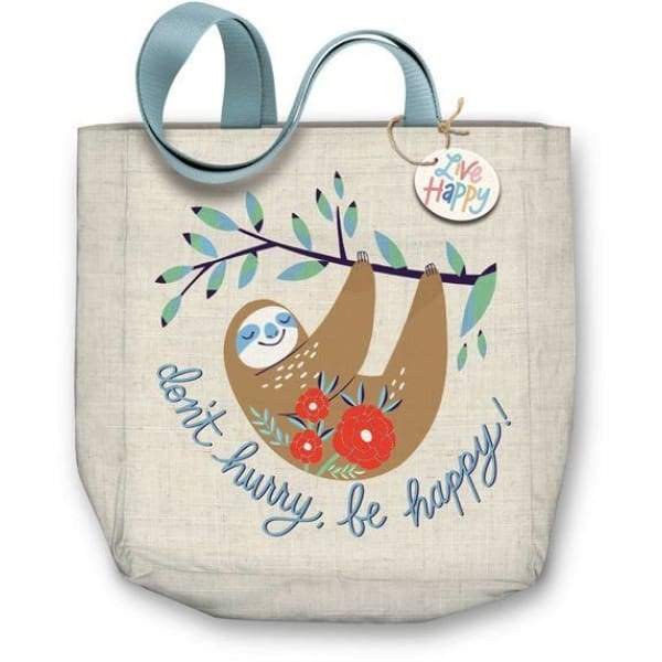 Molly & Rex Sloth Canvas Tote Bag,Reusable Shopping Bag, Molly & Rex - Yum Yum Store