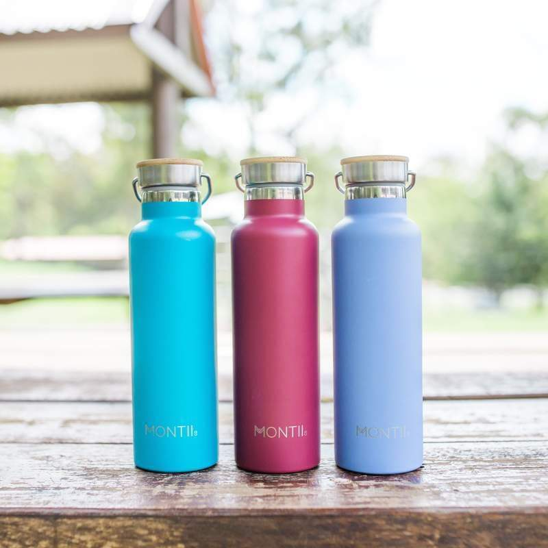 Montii Co Insulated Drink Bottle Burgandy,Stainless Steel Water Bottle, Montii - Yum Yum Store