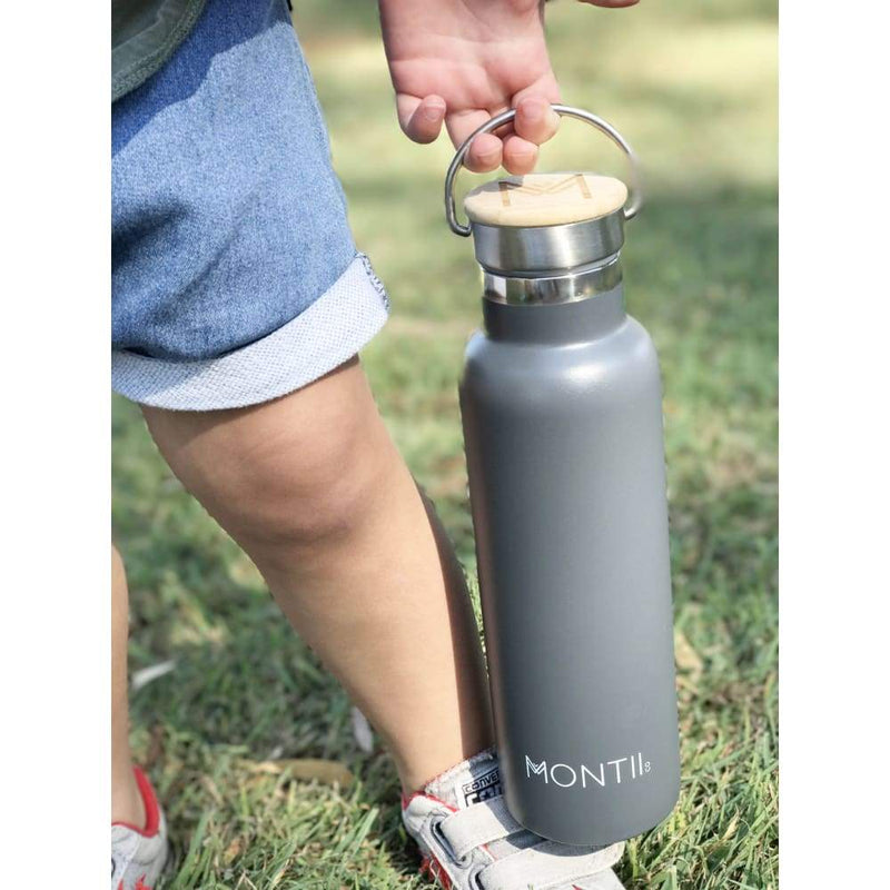 Montii Co Insulated Drink Bottle Grey,Water Bottle, Montii - Yum Yum Store