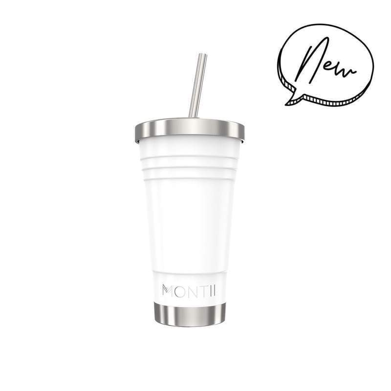 Montii Co. Insulated Smoothie Cup 450ml White,Reusable Tumbler, Montii - Yum Yum Store